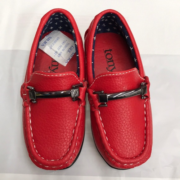 ce2ac97659e Boys loafers red size 4 toddler. NWT. tony